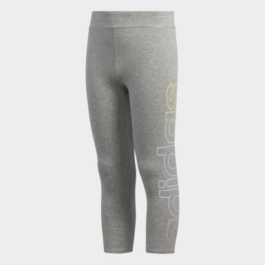 Youth Yoga Grey Iridescence Stripe 7/8 Tights