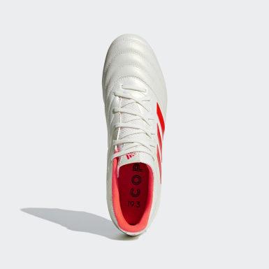 Calzado de fútbol Copa 19.3 Terreno Firme Blanco Hombre Fútbol