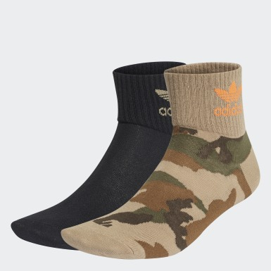 Originals Sort Camo Mid-Ankle sokker, 2 par