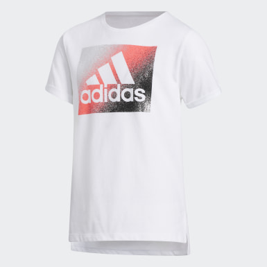 Children Training White Boxy Tee