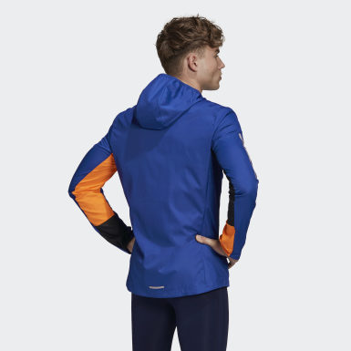 Men's Running Blue Own the Run Hooded Wind Jacket