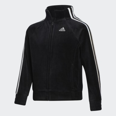 Children Training Black VELOUR JACKET