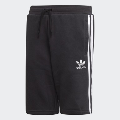 Shorts Felpa Negro Niño Originals