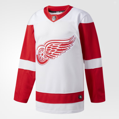 Maillot Red Wings Extérieur Authentique Pro blanc Hockey