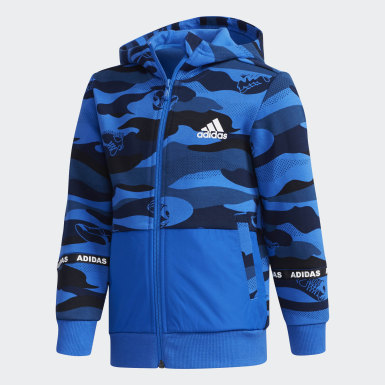 Boys Training Blue Spacer Jacket