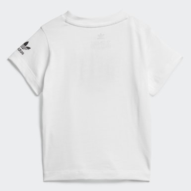Kids Originals White Adicolor 3D Trefoil Tee
