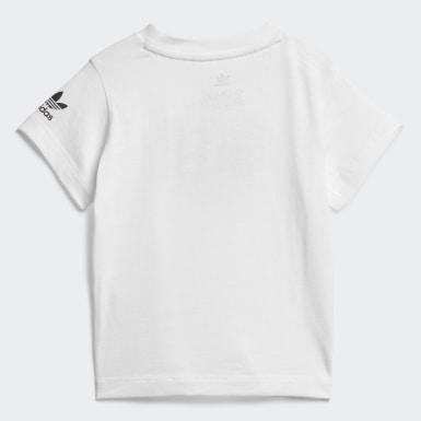 Camiseta Adicolor 3D Trefoil Blanco Niño Originals