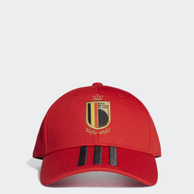 Boné da Bélgica Vermelho Futebol