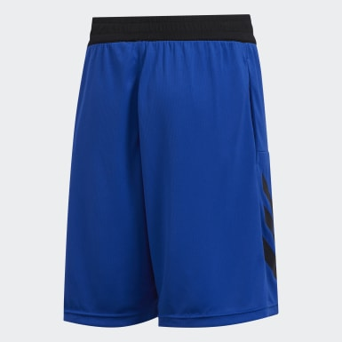 Kids Basketball Blue Sport 3-Stripes Shorts