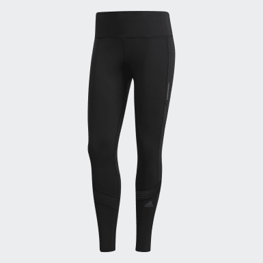 Women Running Black How We Do 7/8 Tights