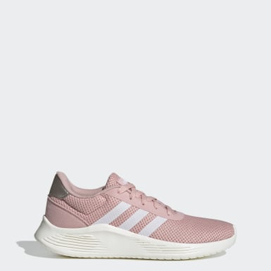 Bright Pastel Dusty Rose Baby Pink Adidas Sneakers With