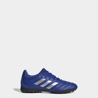 Zapatos de Fútbol Copa 20.3 Pasto Sintético Azul Niño Fútbol
