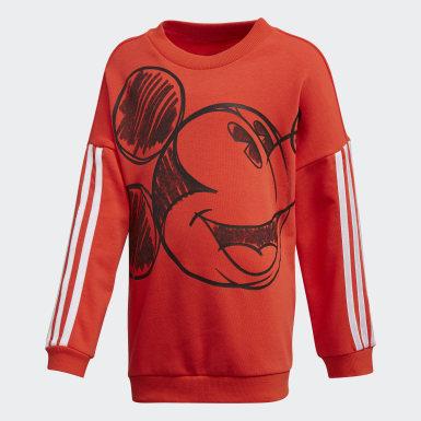 เด็กผู้ชาย เทรนนิง Burgundy เสื้อวอร์มคอกลม Mickey Mouse