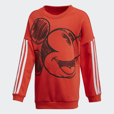Boys Träning Burgundy Mickey Mouse Crew Sweatshirt