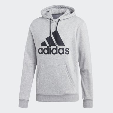 Men Athletics Grey Must Haves Badge of Sport Hoodie