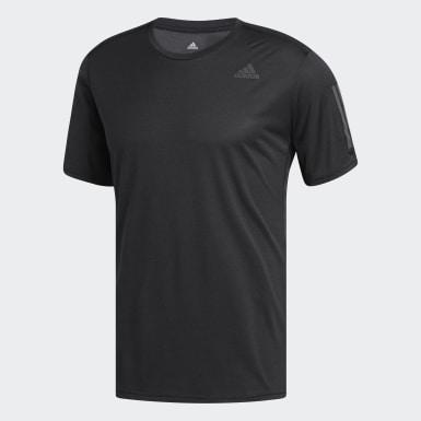 Men Running Black Response Cooler T-Shirt