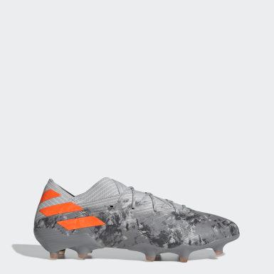 Zapatos de Fútbol Nemeziz 19.1 Terreno Firme Gris Hombre Fútbol