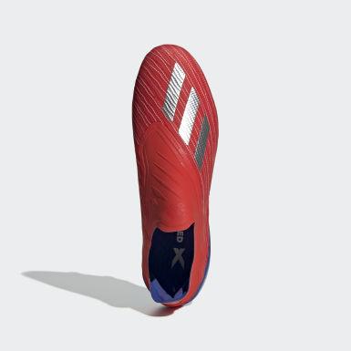 Calzado de Fútbol X 18+ Terreno Firme Rojo Hombre Fútbol
