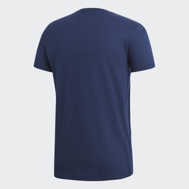 Men Sport Inspired Blue Badge of Sport Tee