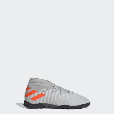 Zapatos de Fútbol Nemeziz 19.3 Césped Artificial Gris Niño Fútbol