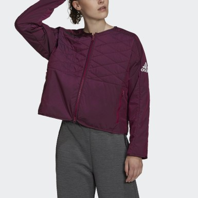 Women Athletics Burgundy adidas Z.N.E. Padded Jacket