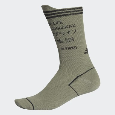 Tennis Green Alphaskin Typo Socks