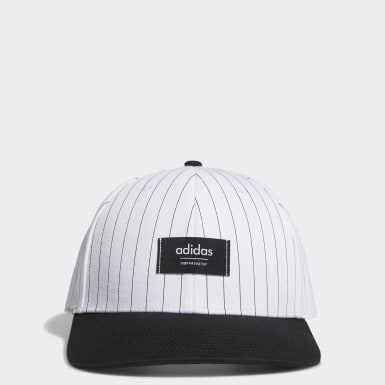 Men Golf White Pinstripe Hat