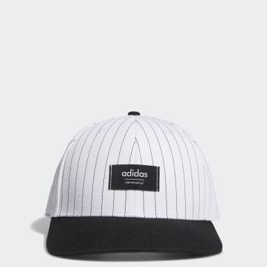 Pinstripe Hatt Hvit