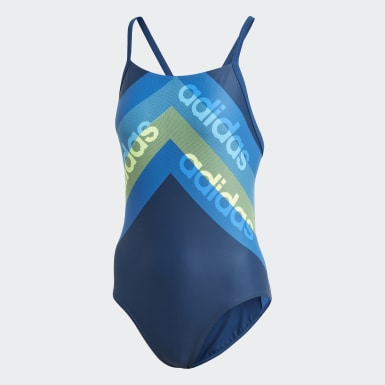 Women Swimming Blue athly light graphic swimsuit