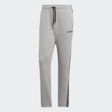 Herr Athletics Grå Essentials 3-Stripes Pants