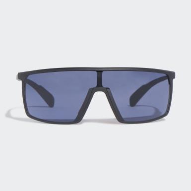 Padel-Tennis SP0004 Shiny Black Injected Sport Sonnenbrille Schwarz
