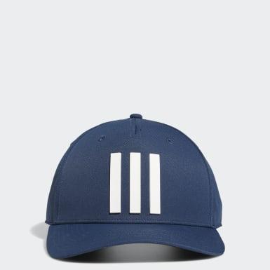 Men Golf Blue Golf 3-Stripes Tour Hat