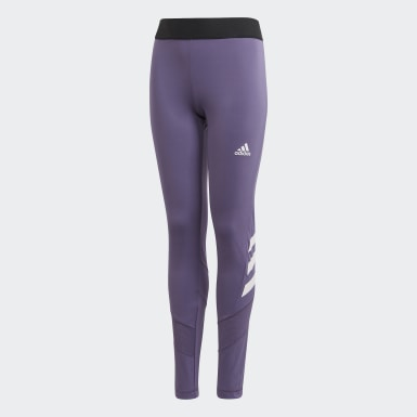 Kids Yoga Purple The Future Today Leggings