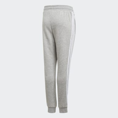 Youth 8-16 Years Originals Grey 3-Stripes Joggers