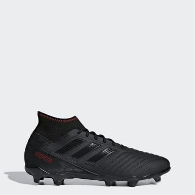 Men Football Black Predator 19.3 Firm Ground Boots