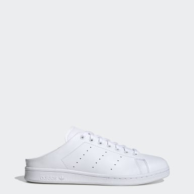 Men Originals White Stan Smith Slip-on Shoes