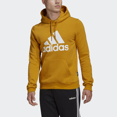 Heren Athletics Goud Badge of Sport Fleece Hoodie