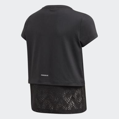 T-shirt Primeblue Noir Filles Yoga