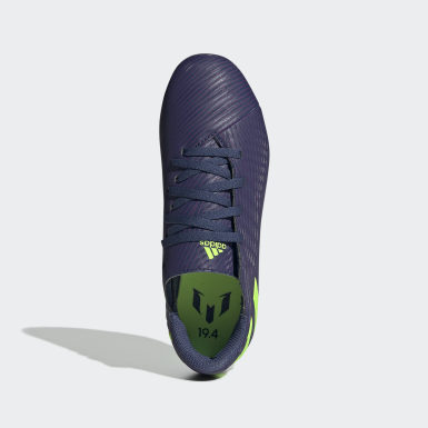 Kluci Fotbal modrá Kopačky Nemeziz Messi 19.4 Flexible Ground