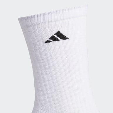 Men's Training White Cushioned Crew Socks 3 Pairs