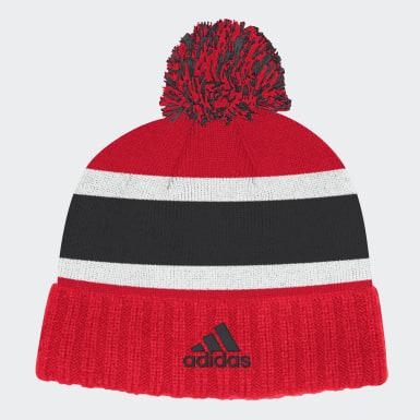 Men's Hockey Multicolor Devils Cuffed Knit Pom Hat