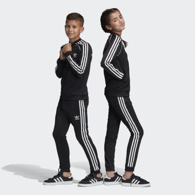 เด็ก Originals สีดำ กางเกงแทรคขายาว SST