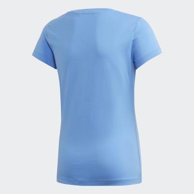 Girls Athletics Blå Essentials Linear T-shirt