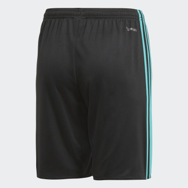 Shorts Real Madrid Away Replica Negro Niño Fútbol