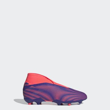 Bota de fútbol Nemeziz .3 césped natural seco Violeta Niño Fútbol