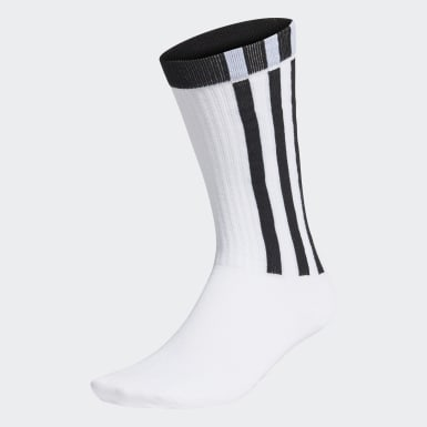 Lifestyle White 3-Stripes Essentials Crew Socks 1 Pair