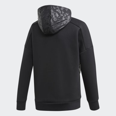 Jungen Training YB ID COVER UP Schwarz
