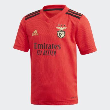 Equipamento 20/ 21 do Benfica para Jovem Vermelho Criança Futebol