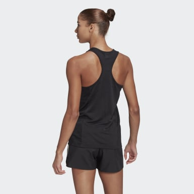 Women Running Black Own The Run Cooler Tank Top