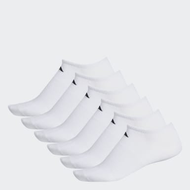 Men's Training White Superlite No-Show Socks 6 Pairs